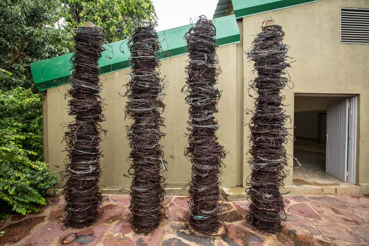 Old wire snares collected by the Grumeti Fund Anti-Poaching Unit