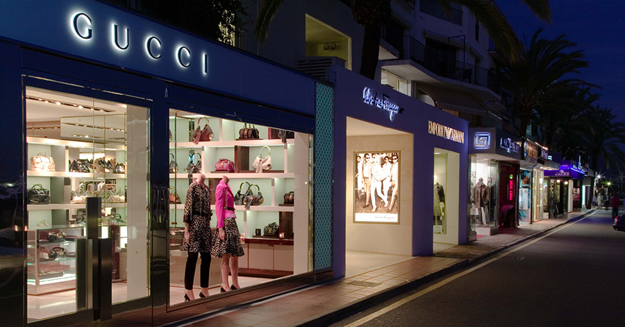 Luxury shopping experience in Marbella