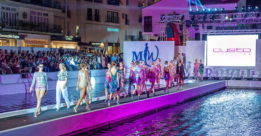 Floating catwalk in Puerto Banus