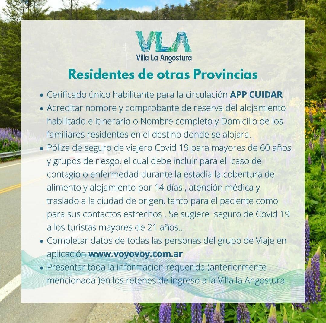 REQUISITOS VLA RESIDENTES OTRAS PROVINCIAS