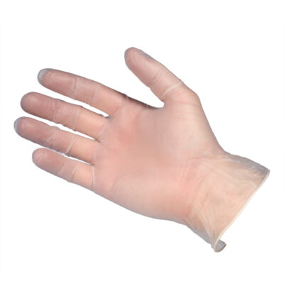 Gloves4U Lightly Powdered Vinyl Gloves Clear