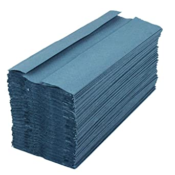 Blue C-fold hand towels 1-ply