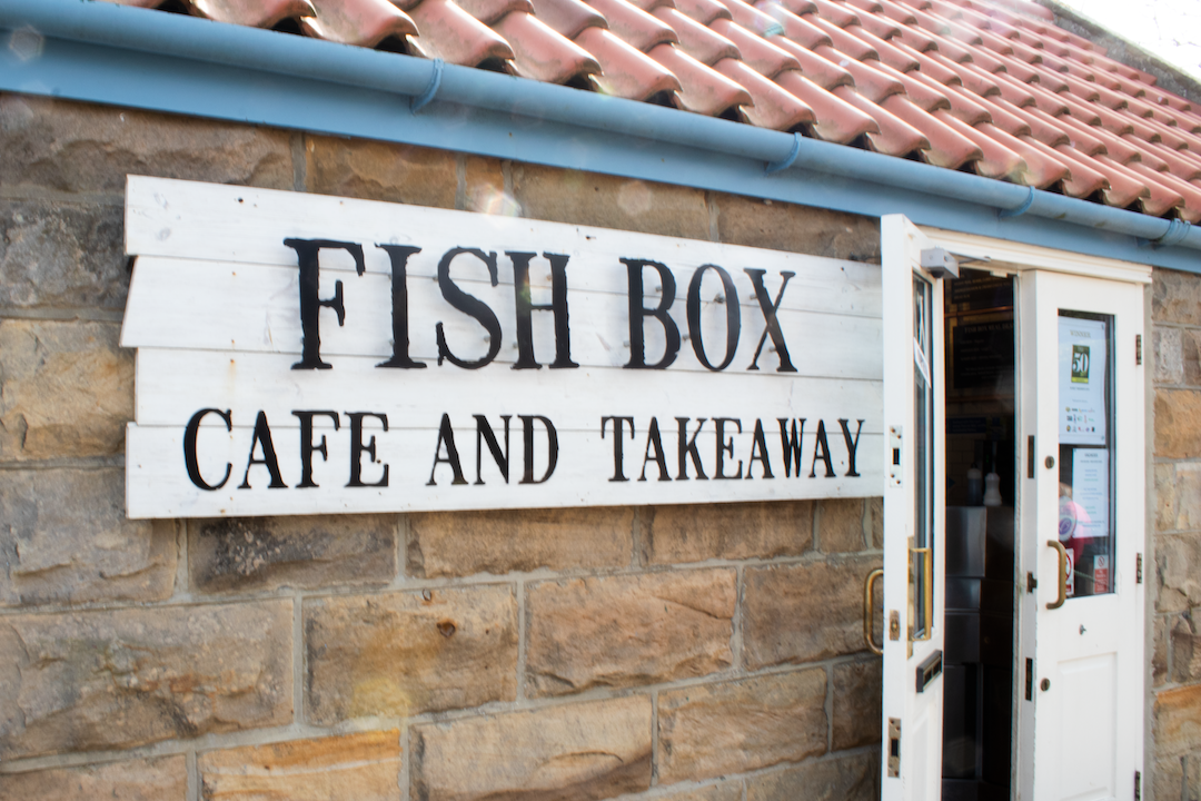 Enjoy a traditional fish and chips whilst overlooking the sea
