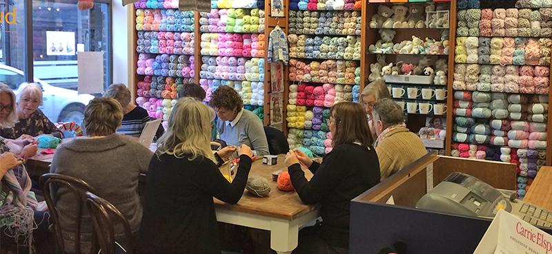 button knit crochet club