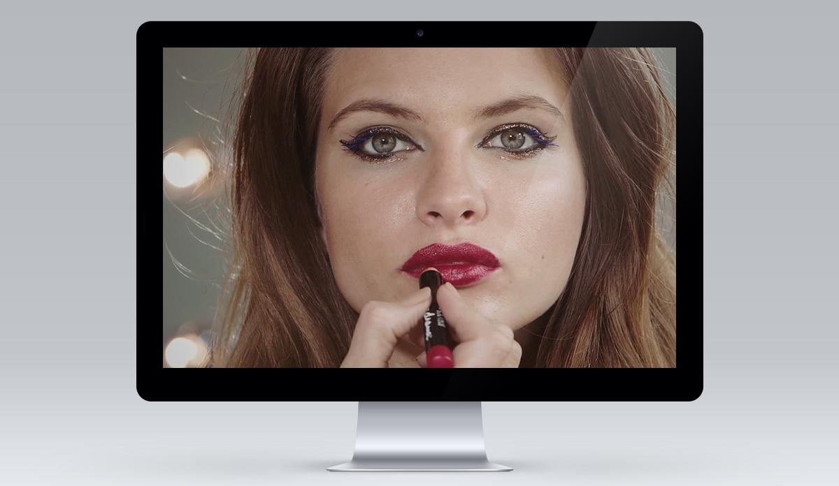 FEEL UNIQUE make-up tutorials screen 2