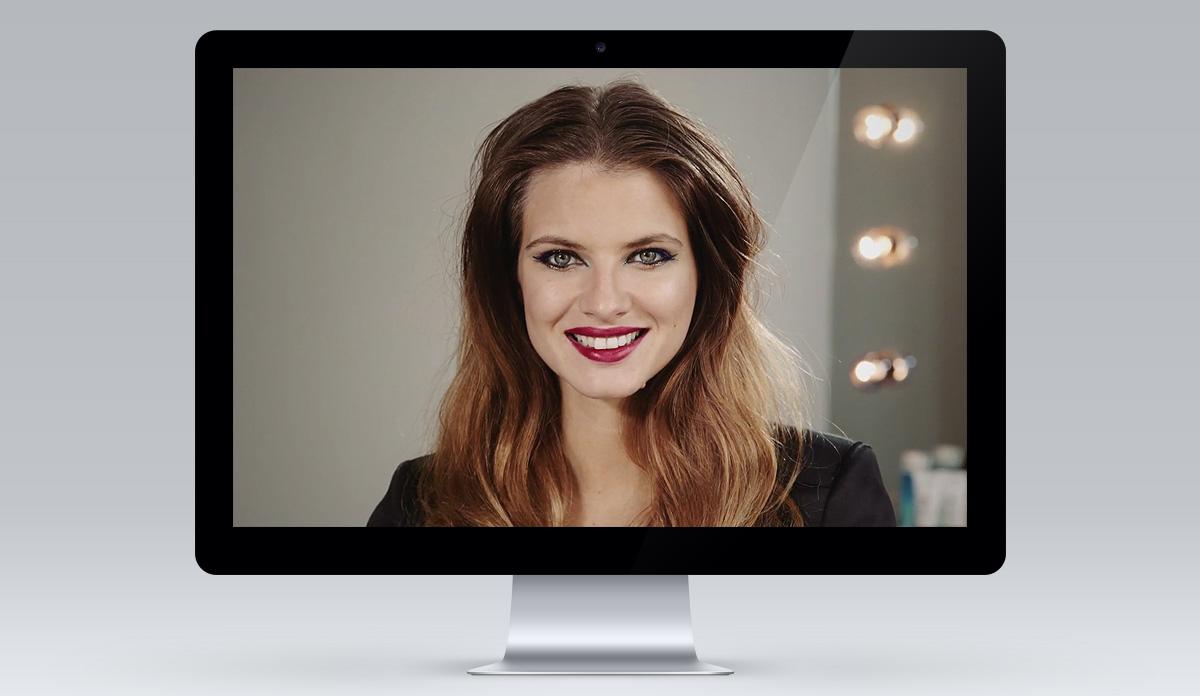 FEEL UNIQUE make-up tutorials screen 3
