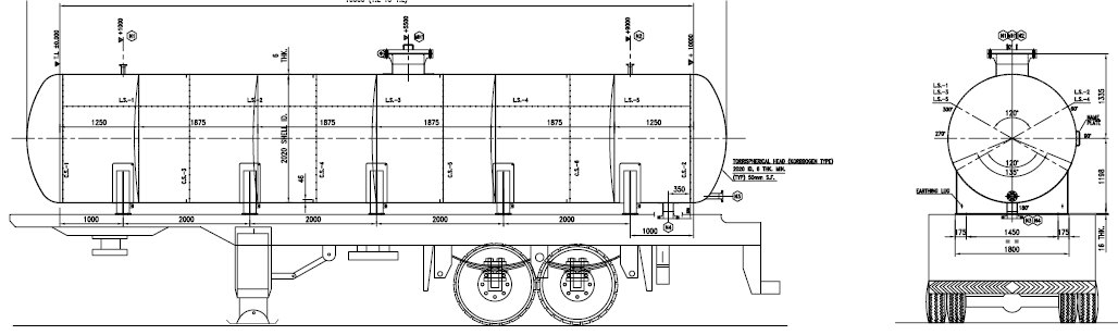 32000 Liter Oil Tanker Design & Detail Engineering as per ADR