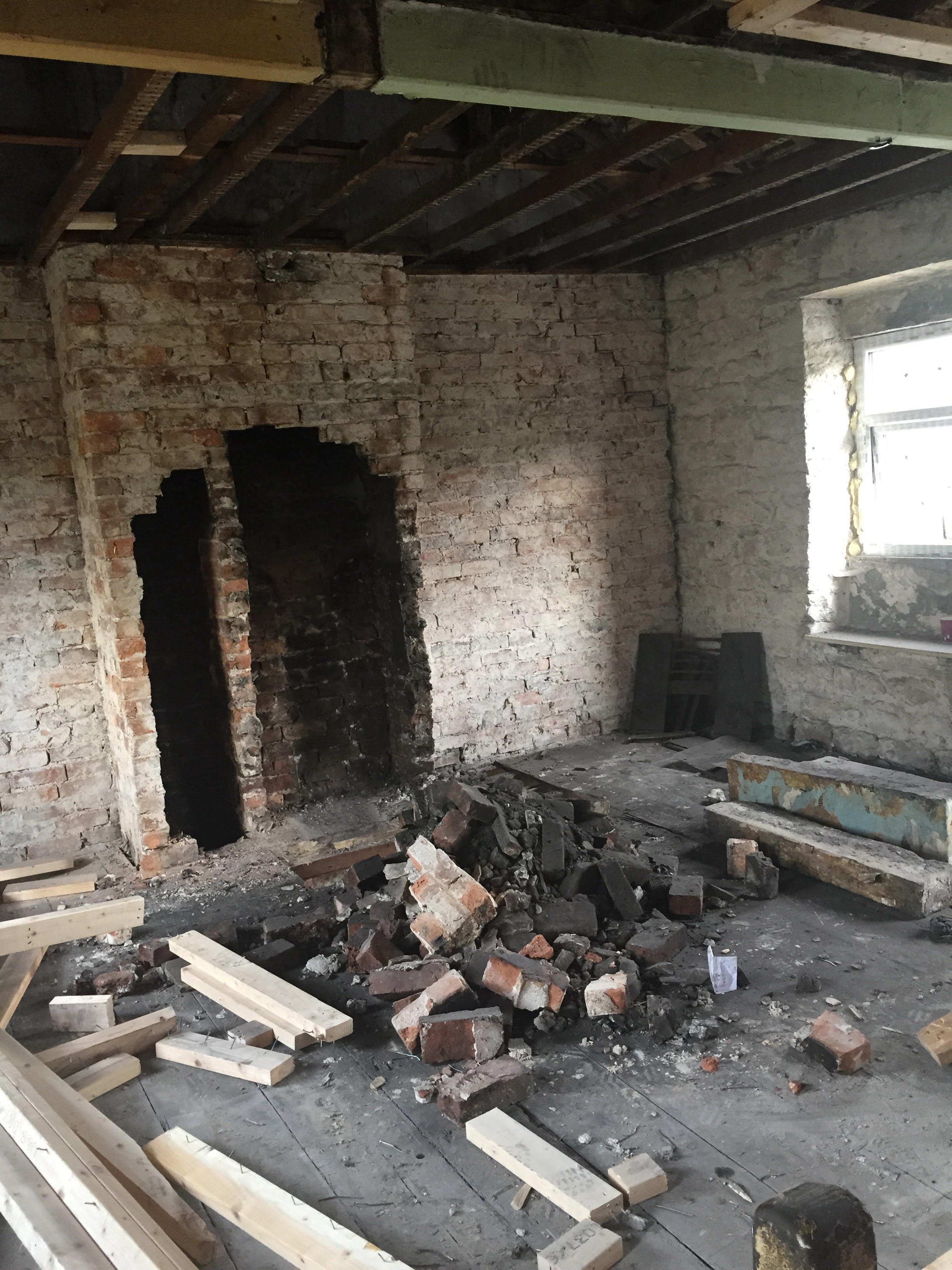 derelict house renovation Yorkshire