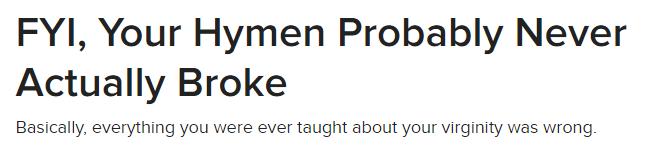 buzzfeed hymen lie