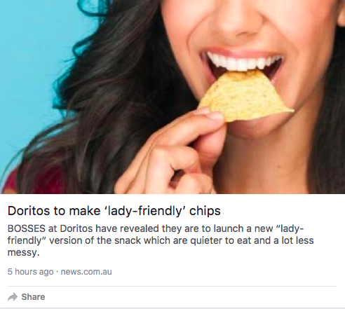 doritos for women article headline