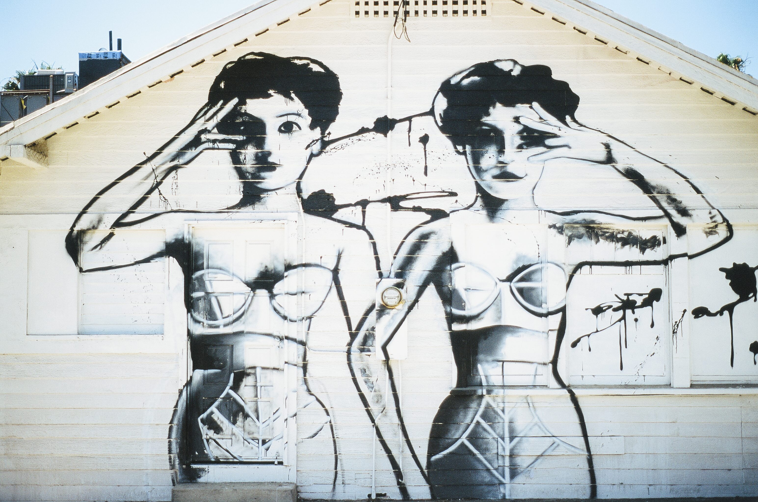 pin up girls spray paint