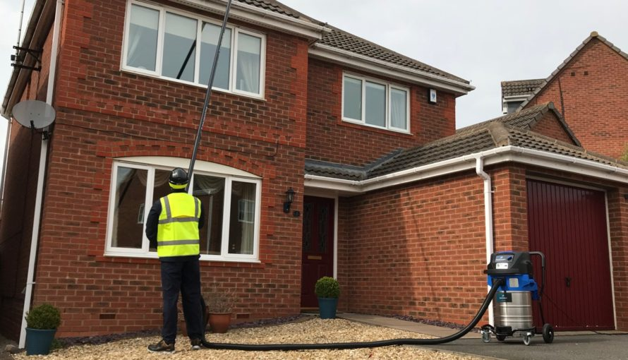 Gutter Cleaning with SpaceVac