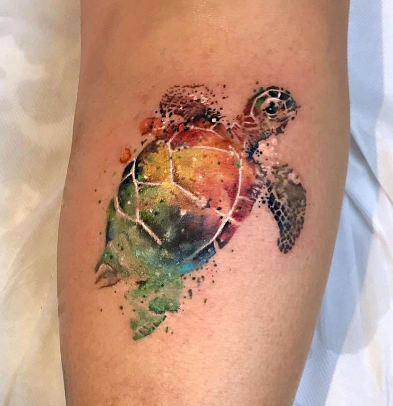 cute watercolor tattoos
