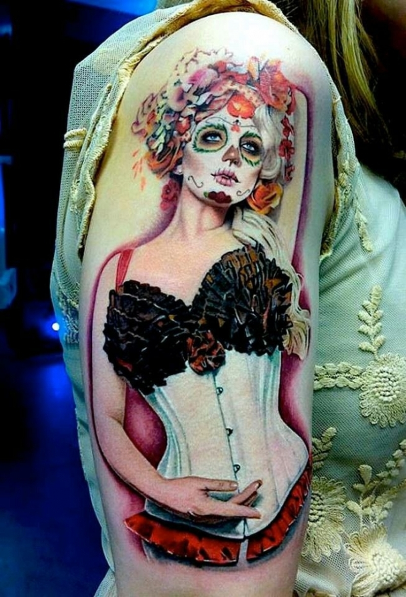 day of the dead tattoo ideas