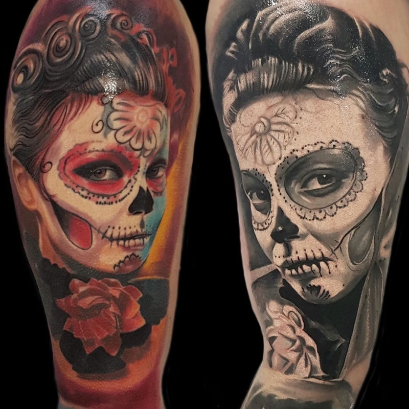 cool Day of the Dead tattoos