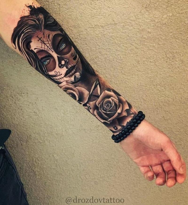 awesome Dia De Los Muertos tattoo