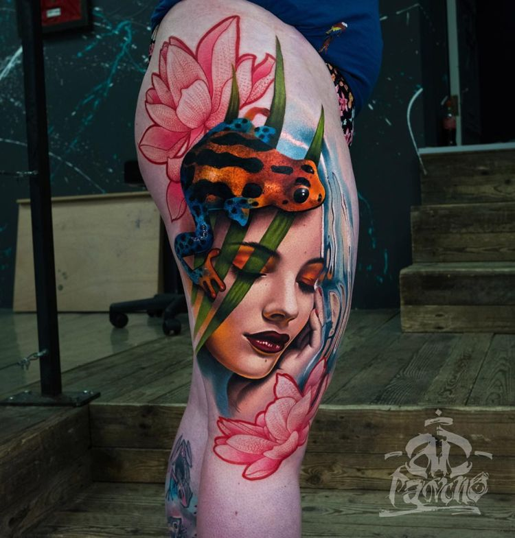 painterly tattoo
