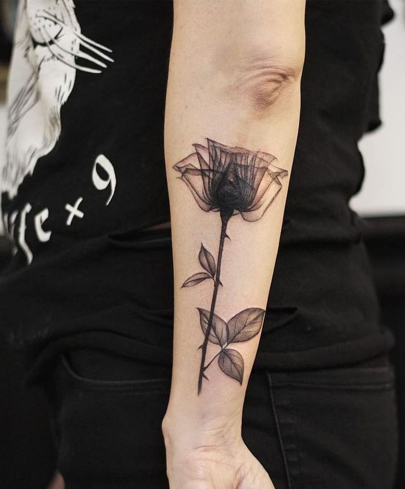 X-ray rose tattoo