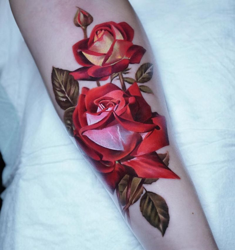 awesome rose tattoo ideas