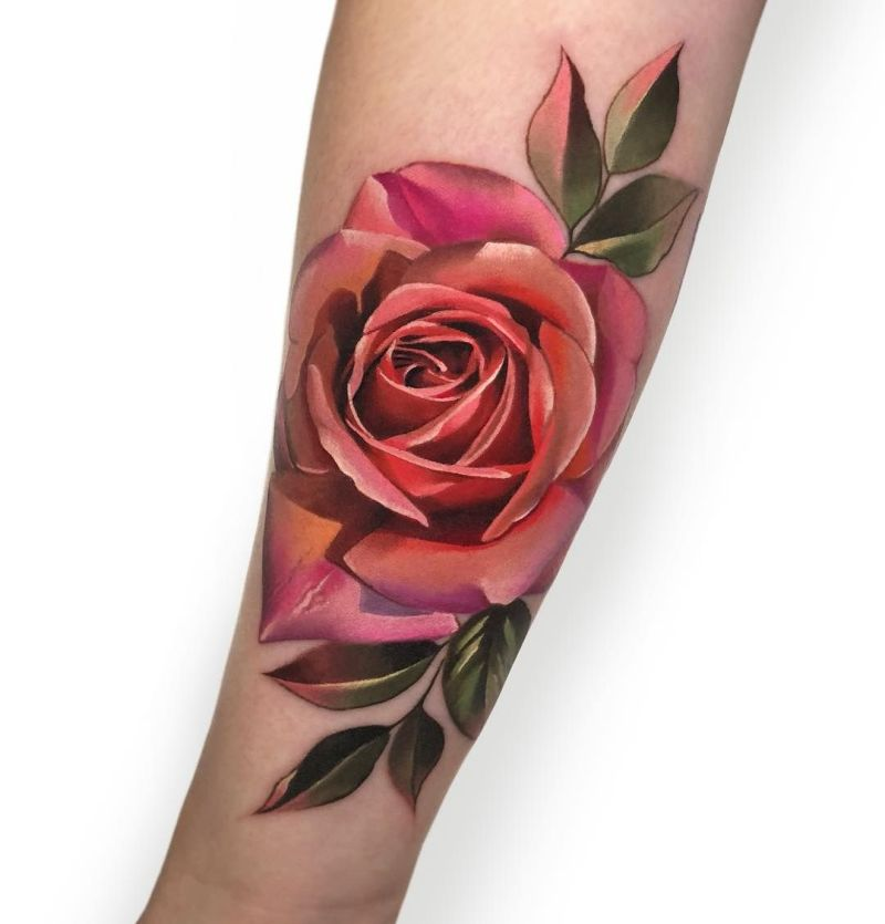 beautiful rose tattoos