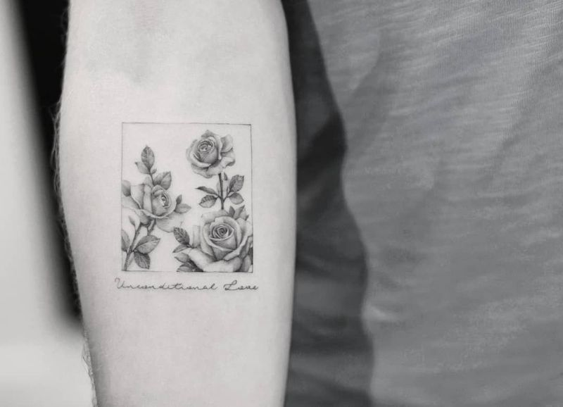creative rose tattoos