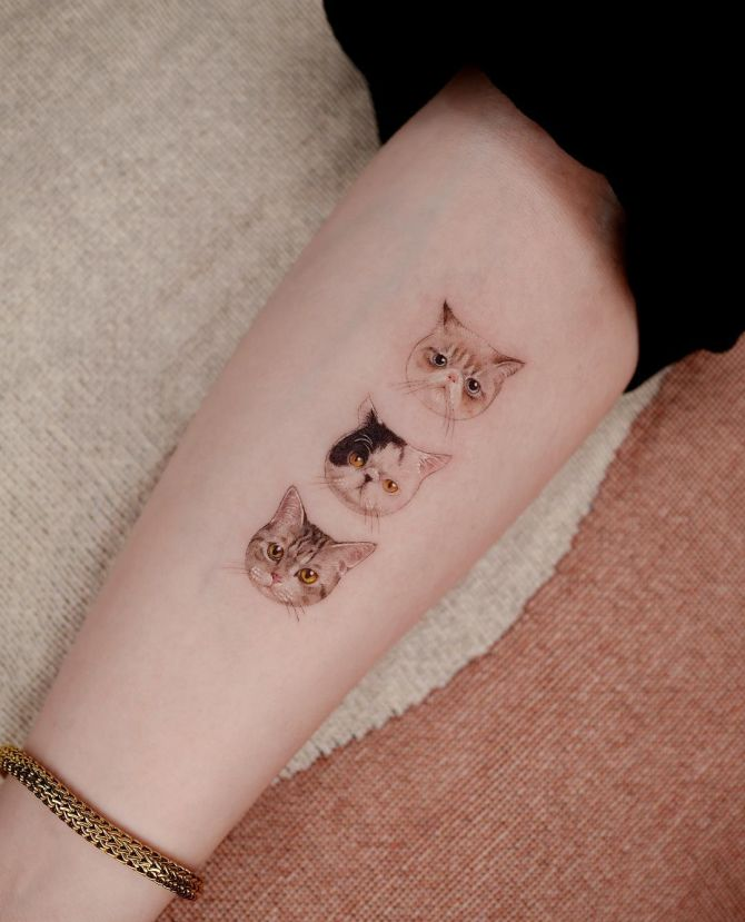 minimalist animal tattoos