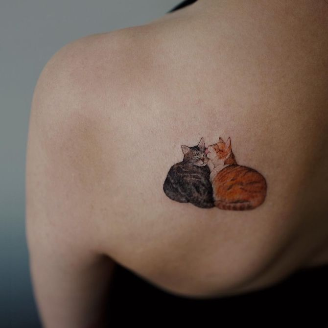 super cute cat tattoo