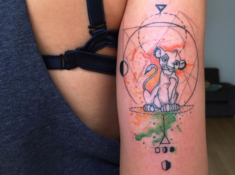 geometrical and abstract tattoos