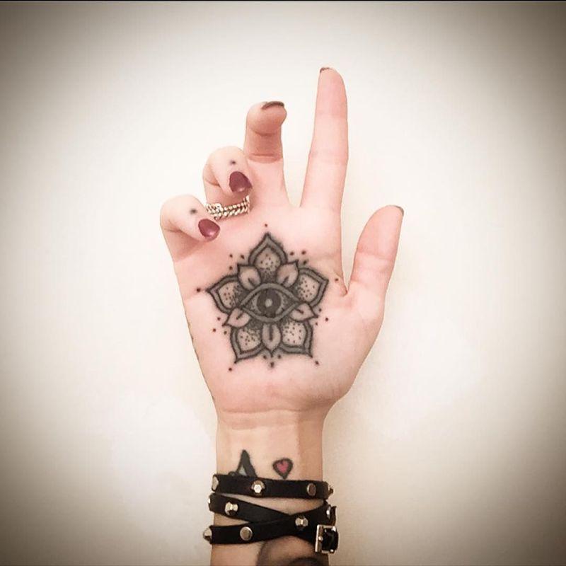 palm mandala tattoo