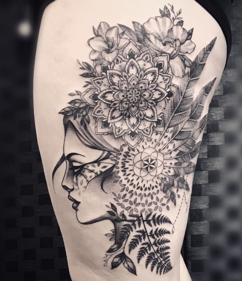 creative mandala tattoo