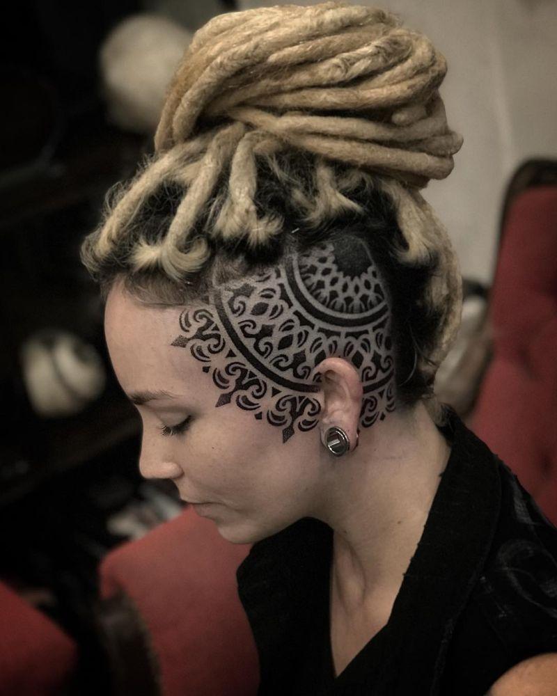 head mandala tattoo