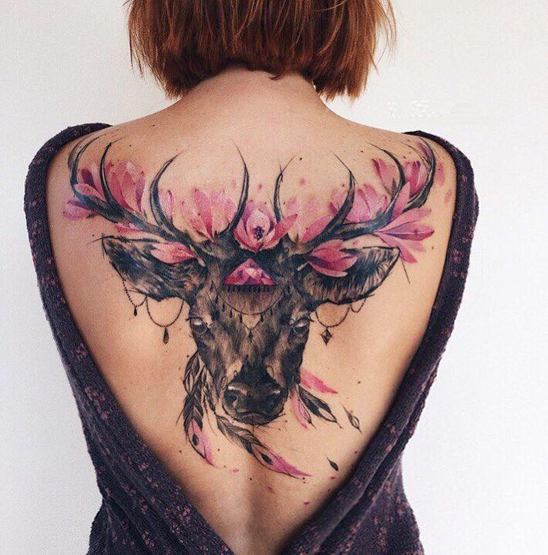 sketchy watercolor tattoo Pis Saro