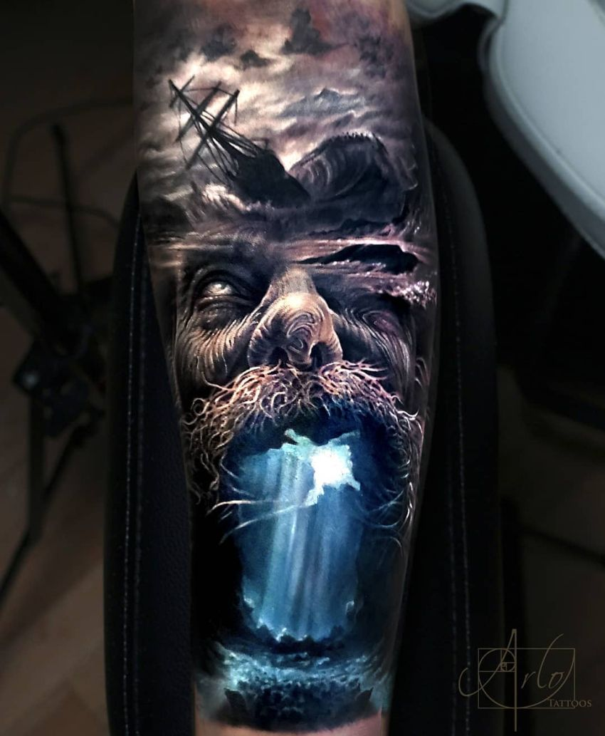 face morph tattoo Arlo DiCristina