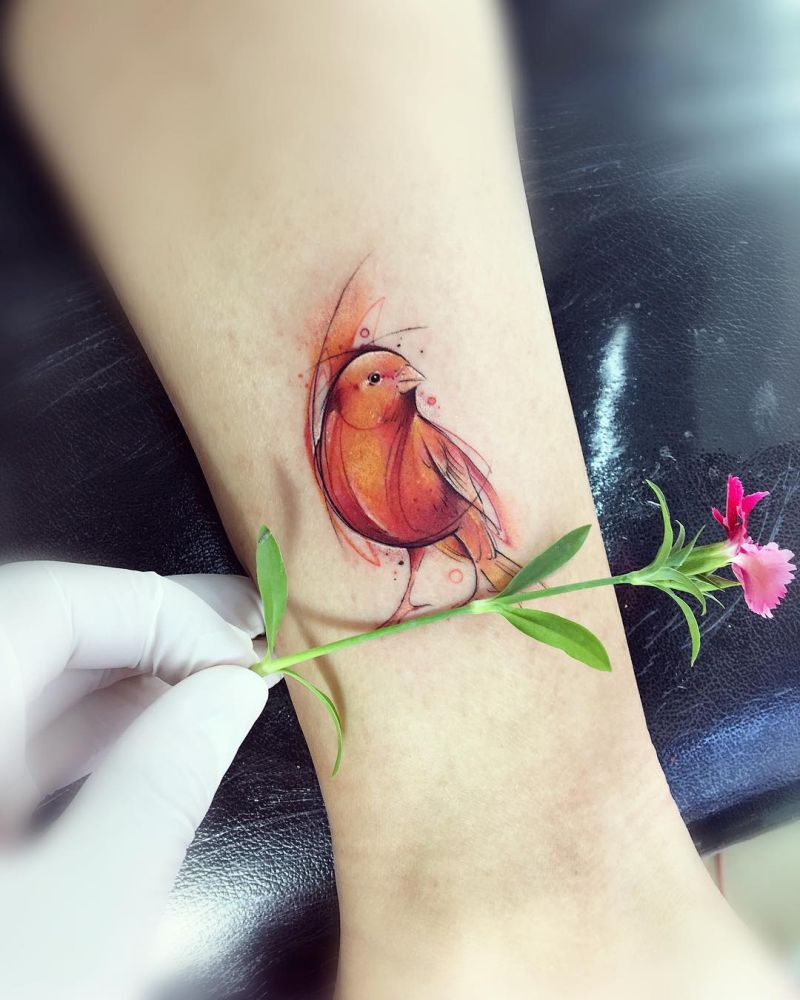 watercolor tattoos by Adrian Bascur