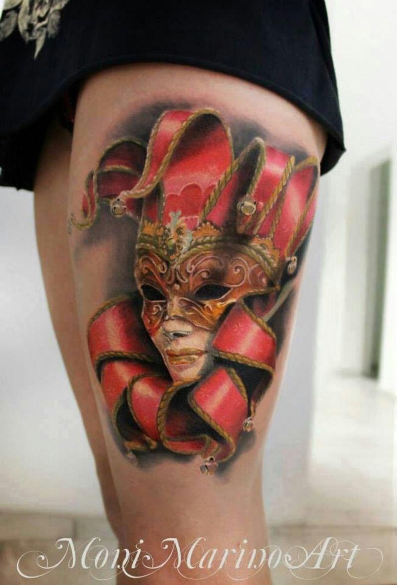 Venetian Mask Tattoo
