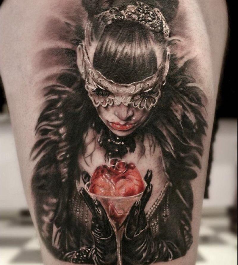 Venetian Mask Tattoos