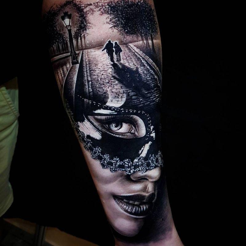 Masquerade Mask Tattoos