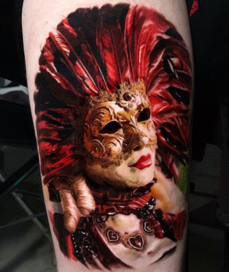 cool mask tattoos