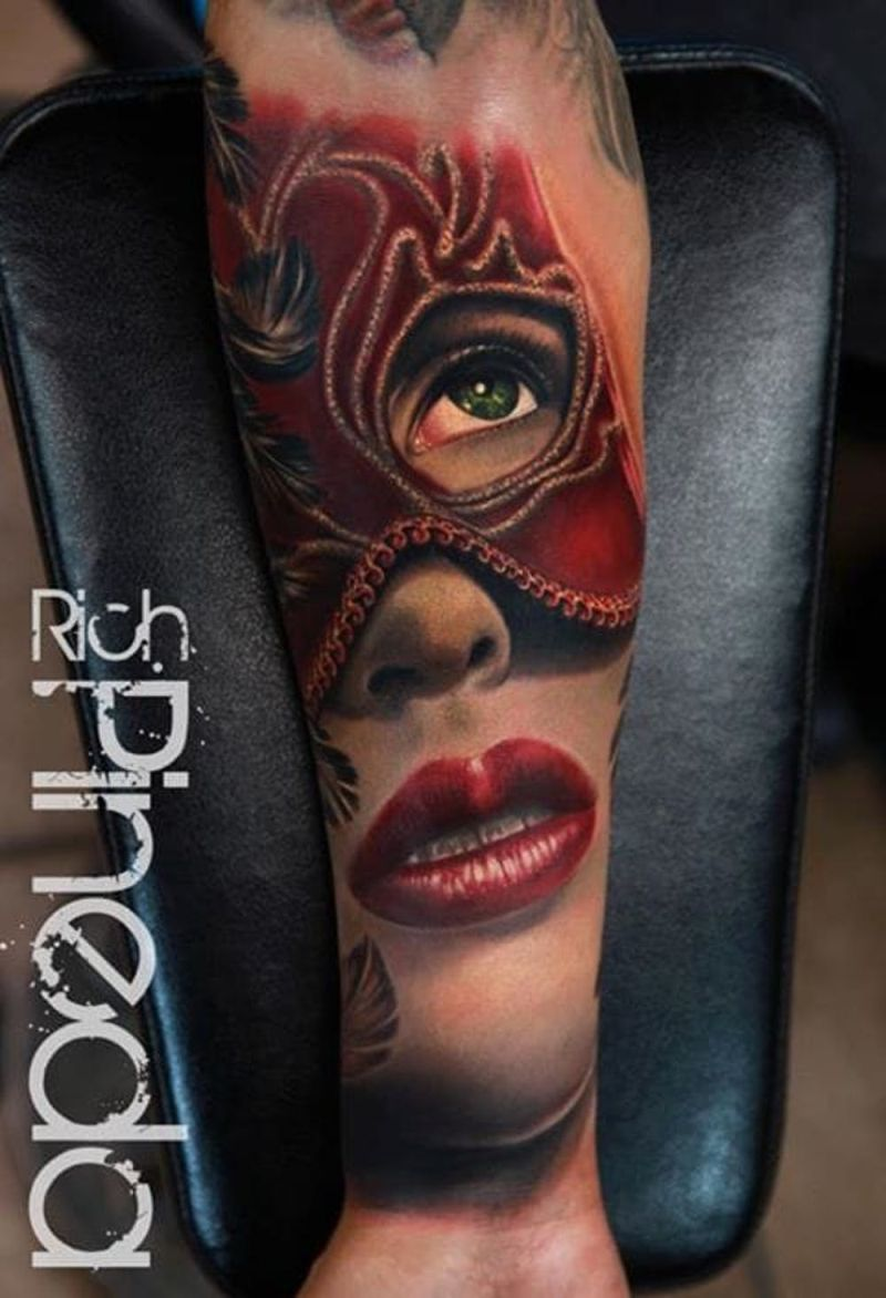 awesome mask tattoos