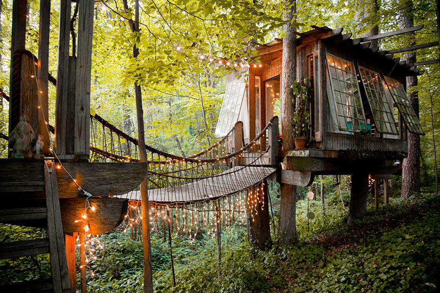 secluded treehouse