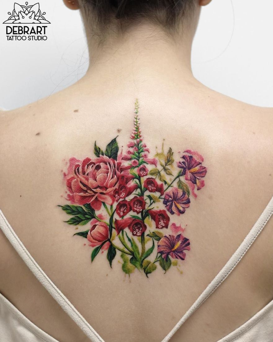 botanical tattoos