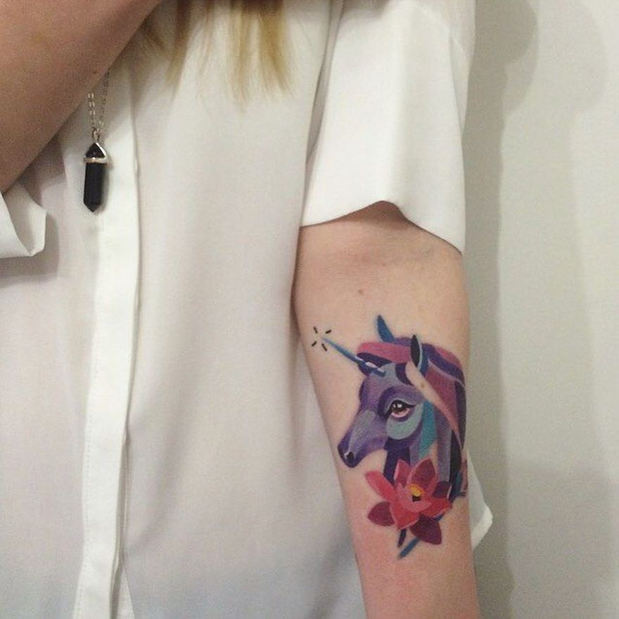 unicorn tattoo by Sasha Unisex