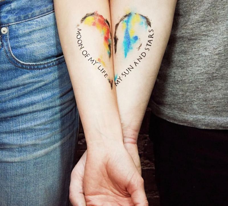cute couple tattoo ideas