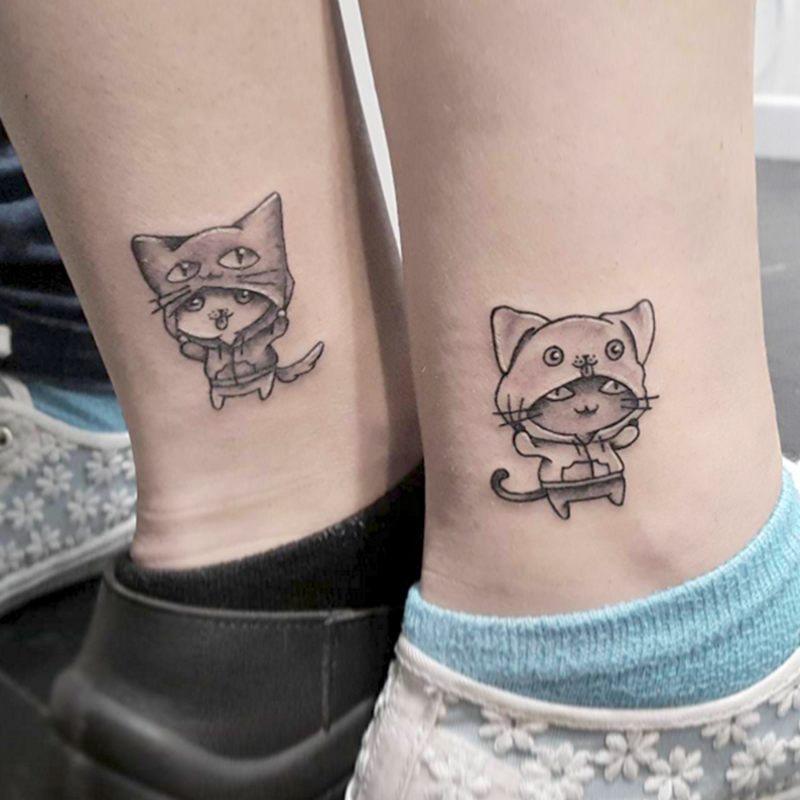 cat couple tattoo