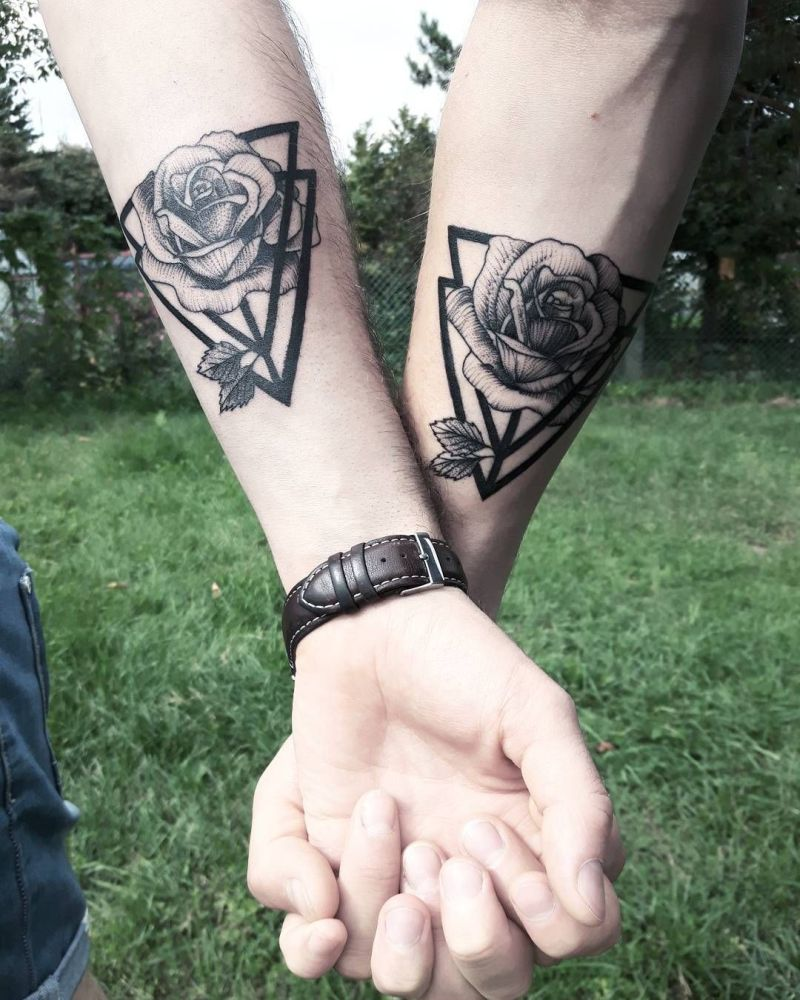 rose tattoo for couples