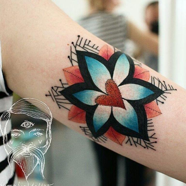 colorful illustrative tattoos