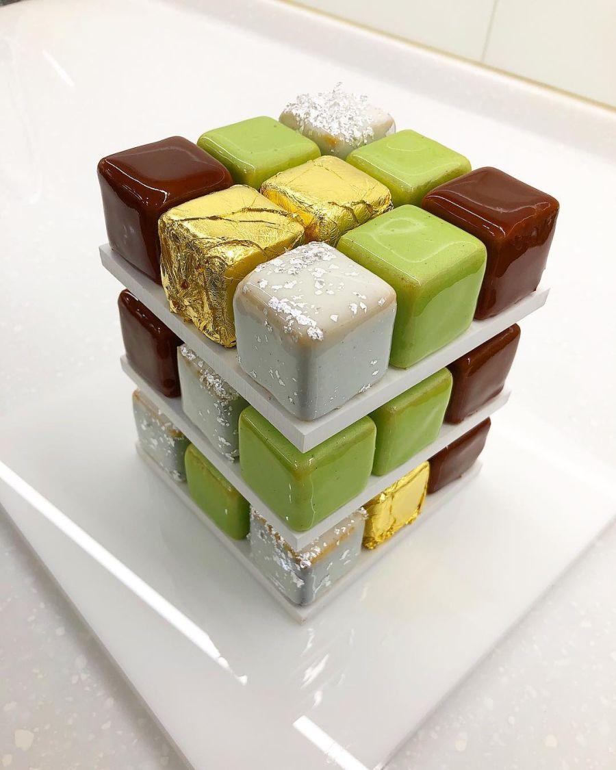 Rubik Cube Cake by Cedric Grolet