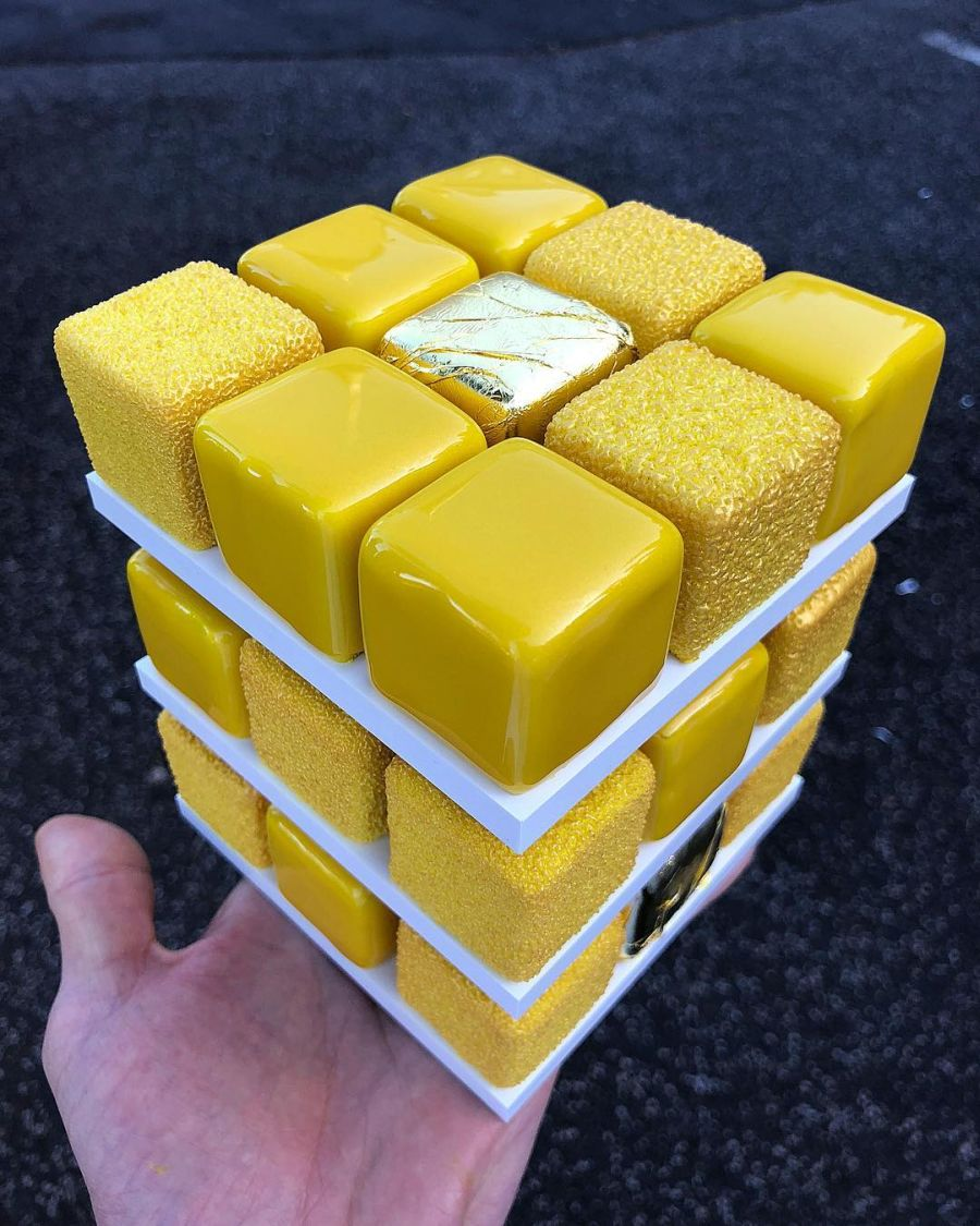 Rubik Cube Cakes by Cedric Grole