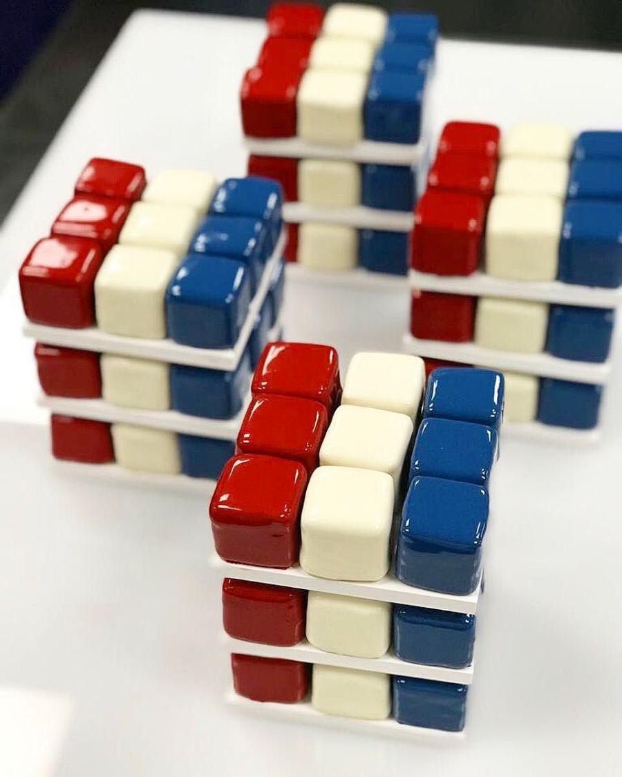 Rubik Cube Cake Cedric Grolet