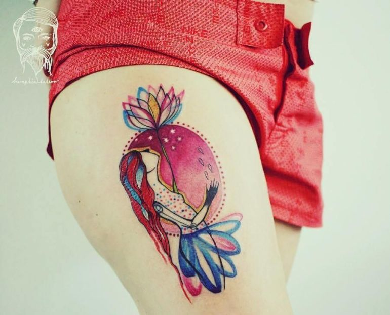 cartoonish tattoos